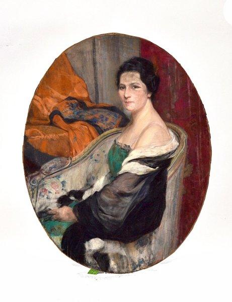 F. von Hodler, Portrait of a Lady, 1916