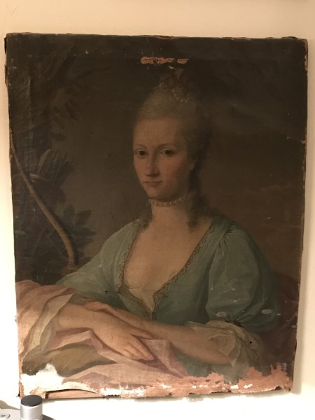 French School, Portrait of a Lady as Diana the Huntress, c.1775