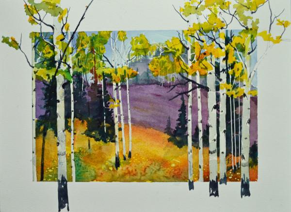Fall Aspen & Violet Hills