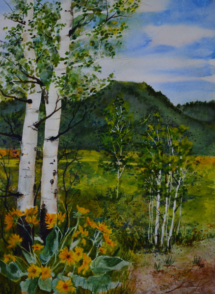 Summer Wildflowers and Aspen