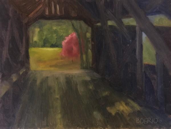 Through the covered bridge