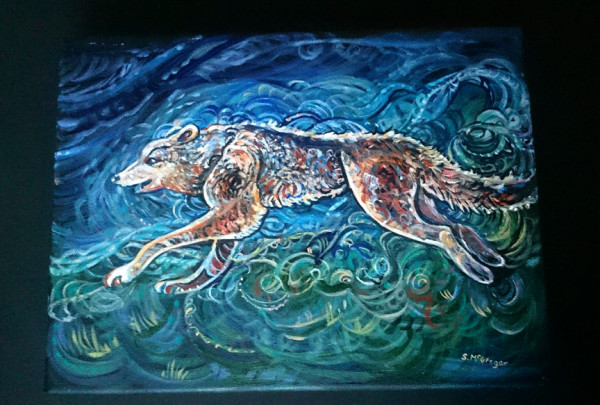 Nighttime Wolf
