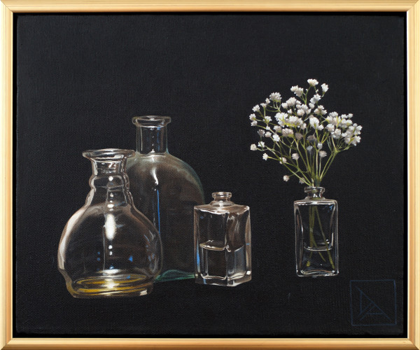 Bottles and Baby's Breath