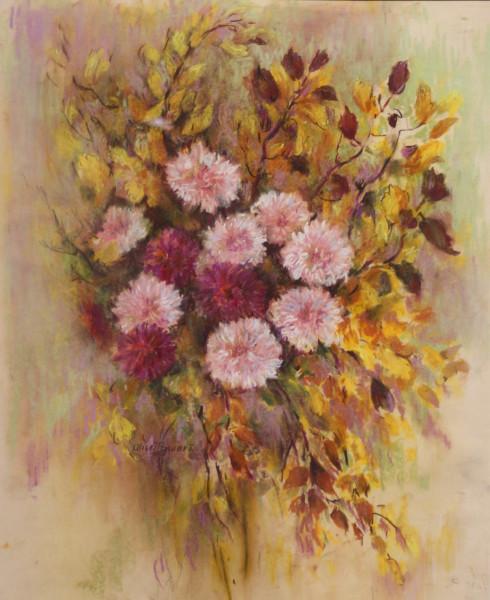 Pink Flowers & Leaves