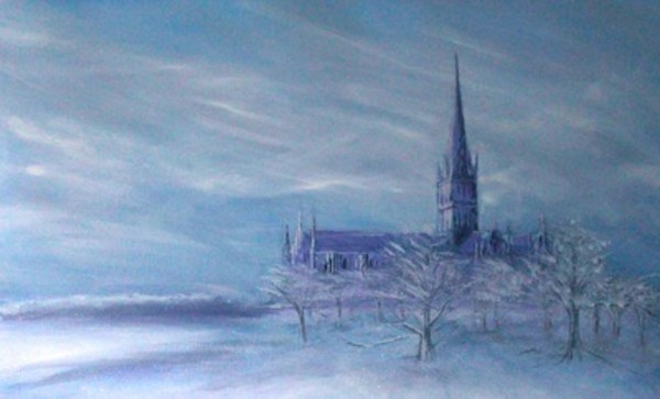 Cathedral in the snow