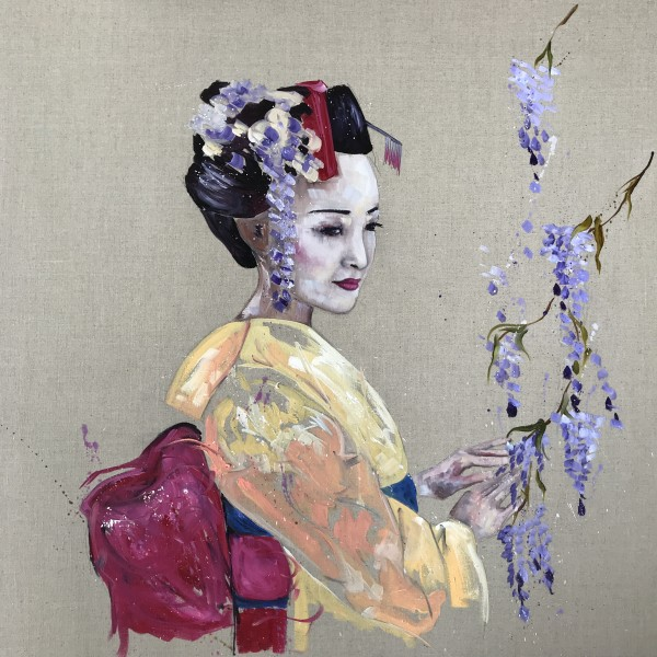 The Kimono and the wisteria