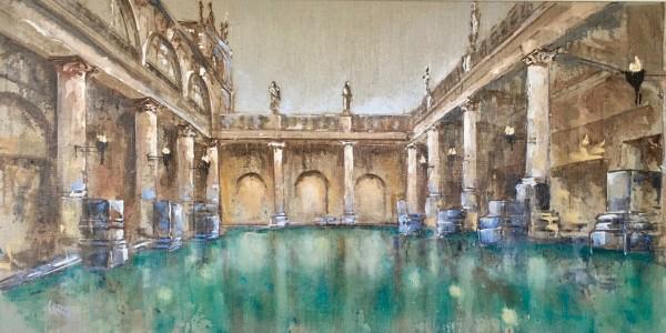 Dusk at the Roman Baths