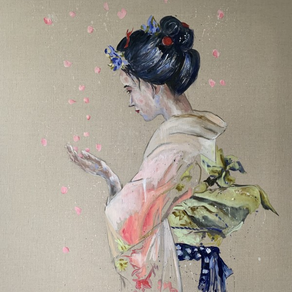The Kimono and the cherry blossom
