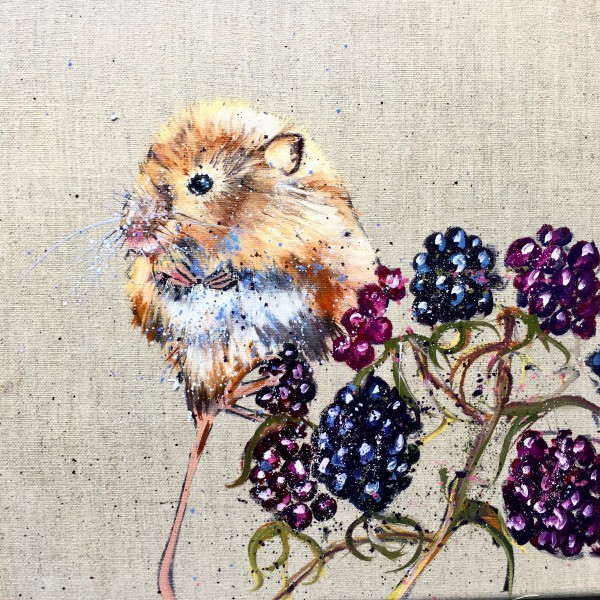 Dormouse and autumn berries