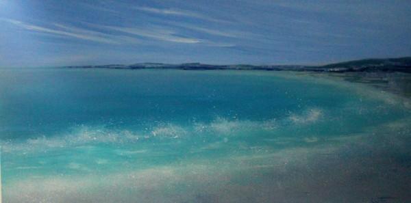 Waves at Hurn bay