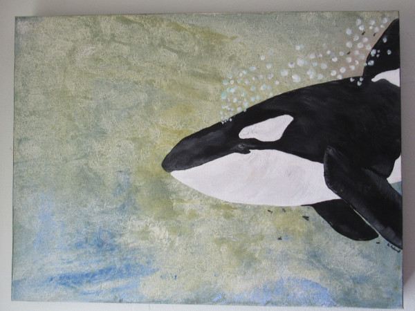 A Whale with No Tale - Acrylic painting of an Orca Whale