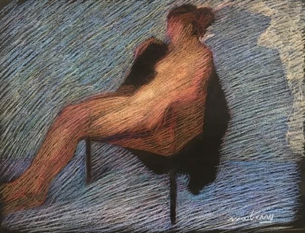Blue Behind Nude