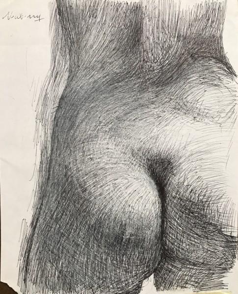 Eve Study Left Butt Cheek
