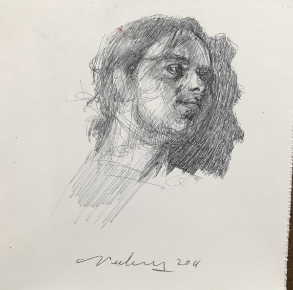 Man's Head and Profile Shadow
