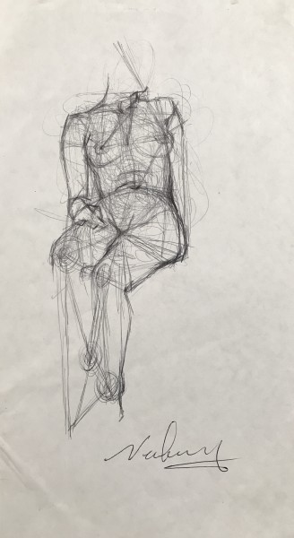 Triangulating a Reclining Female Nude