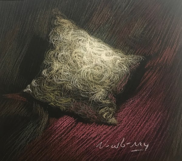Newberry, Pillow, 2019, pastel, 12x14""