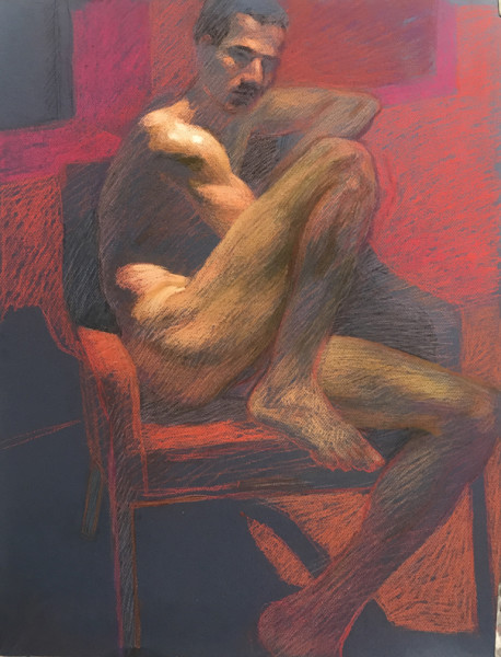 Nude Composition in Red