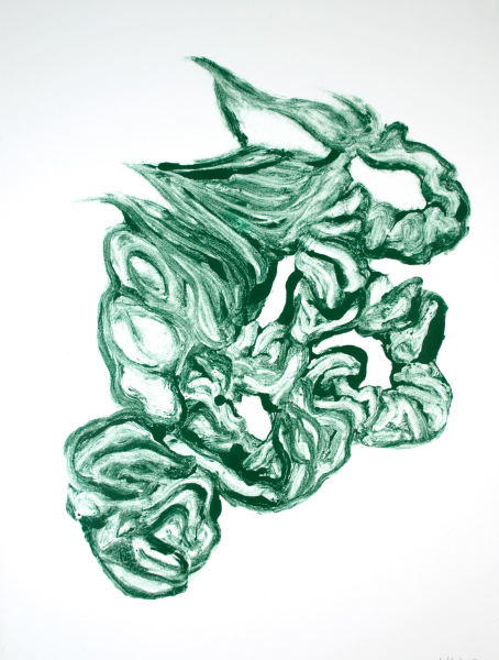 Monotype in Oxide and Phthalo Green, 31.Dec.2017