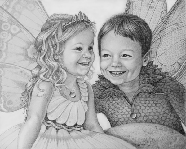 Magical Portrait of Xavier and Delaney