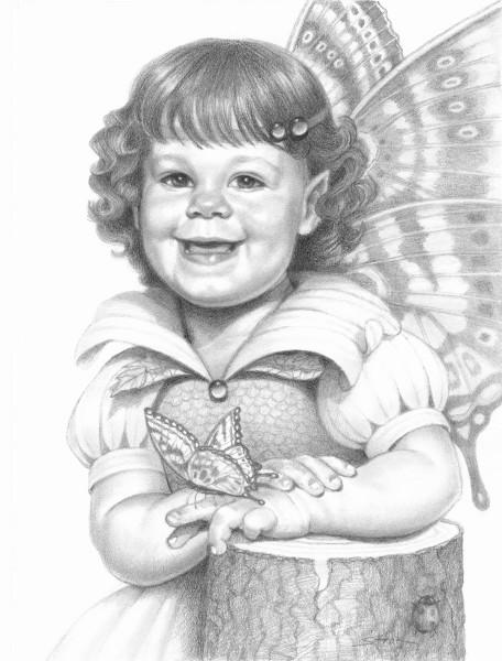 Katie Magical Portrait at 3