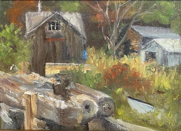 Boatyard in Autumn Study