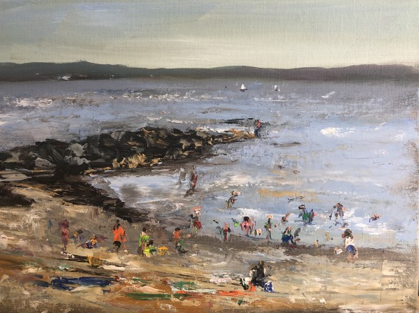 Beach Day (plein air)
