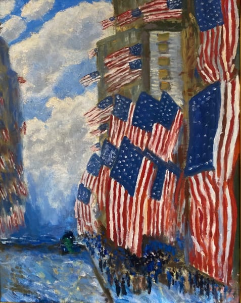 """Interpretation of Childe Hassam's """"The Fourth of July, 1916"""""""