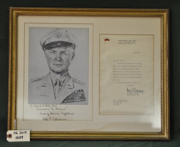 Photograph and Letter from LTG Willis D. Crittenberger