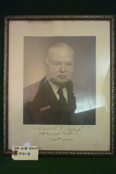 Signed President Herbert Hoover Photograph