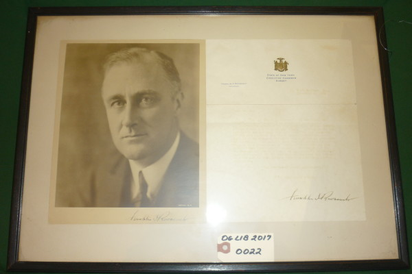 Letter from Franklin Roosevelt