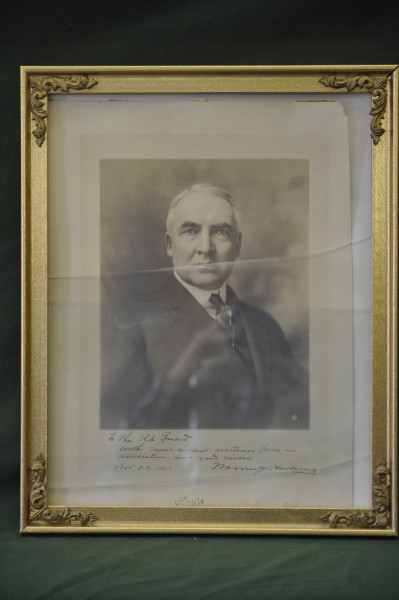 Photograph of President William Harding