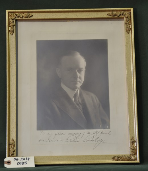 Signed Photograph of Calvin Coolidge