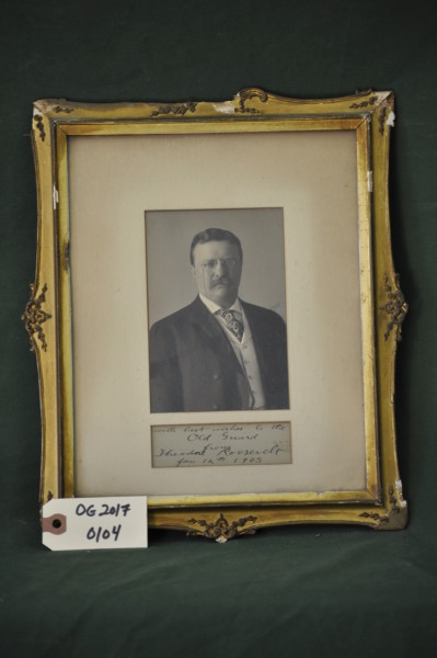 Signed Portrait of Theodore Roosevelt