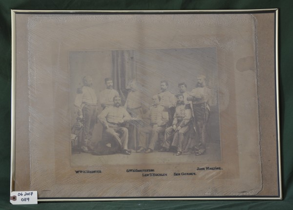 Photograph of Nine Uniformed Men