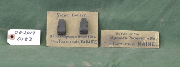 Sight Covers from the Battleship Maine