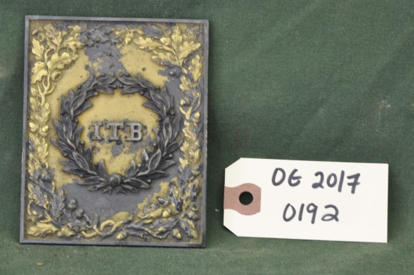 Metal Plate with Wreath and ITB