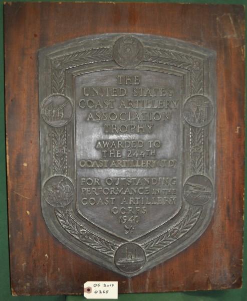 Award to The 244th Coast Artillery