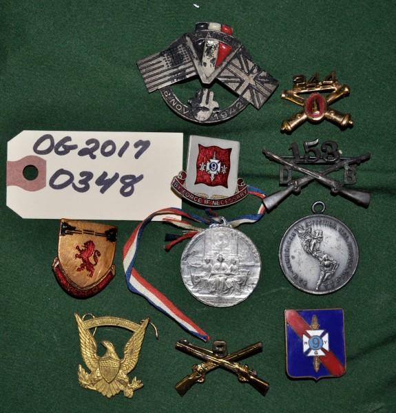 Various 9th Regiment Pins