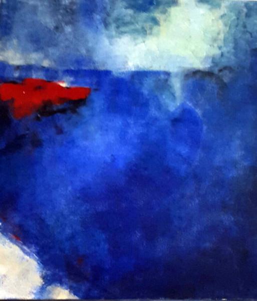 Blau trägt rot