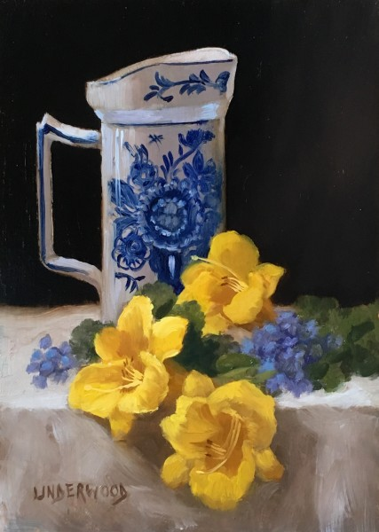 Lilies and Delft