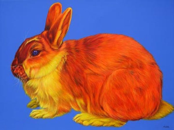 RABBIT ON BLUE, 2006