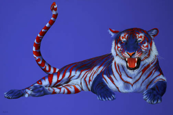 TIGER WITH RED STRIPES, 2006