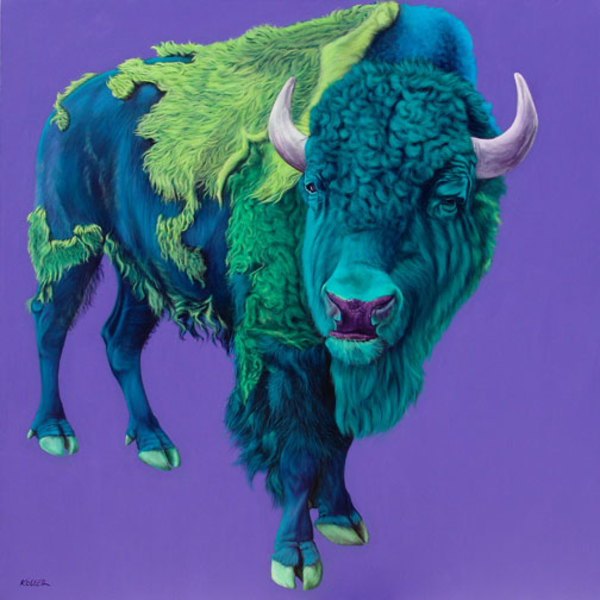 BUFFALO ON PURPLE, 2006