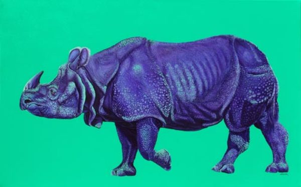 RHINO IN BLUE, 2007