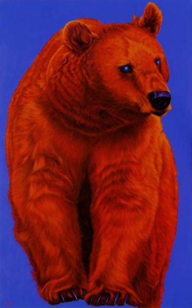 BEAR ON BLUE, 2007