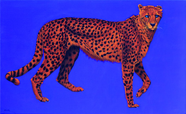 CHEETAH ON BLUE, 2007