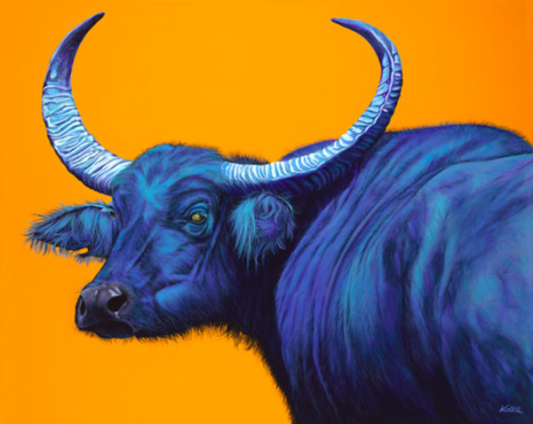 ASIAN BUFFALO ON YELLO_ORANGE, 2008