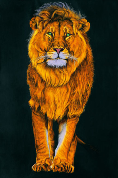 LION IN ORANGE, 2010