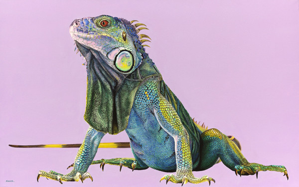 IGUANA ON LIGHT PURPLE, 2012