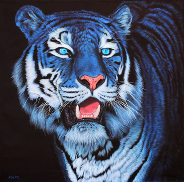 BLUE TIGER ON BLACK, 2012